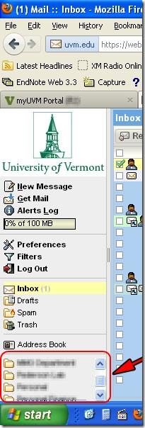 New webmail original sidebar