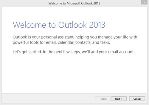 Outlook 2013 Set-up - Welcome